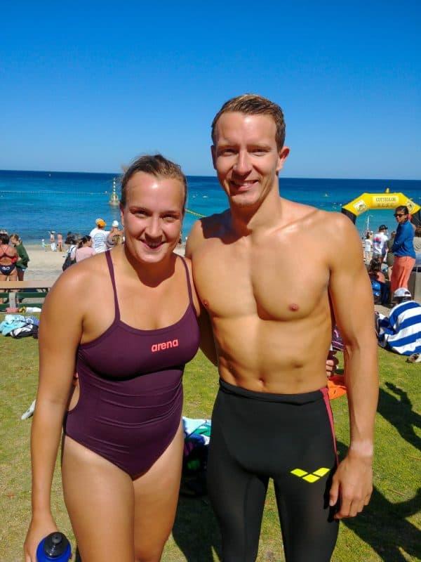 Lars Bottelier winnaar van de Cottlesloe classic mile 2020 in Australië Perth. Volg Lars zijn zwemblog op zijn website.