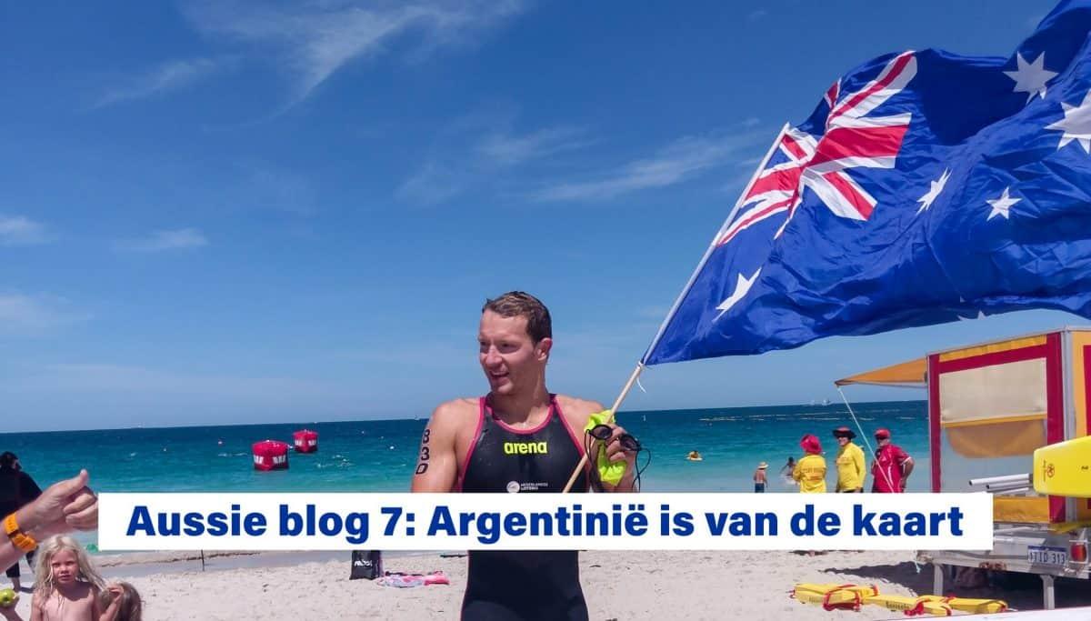 Aussie blog 7: Argentinië is van de kaart - Lars Bottelier gaat niet meer naar Argentinië omdat de wedstrijden daar zijn uitgesteld. Hij blijft nu trainen en zwemmen in Australië.