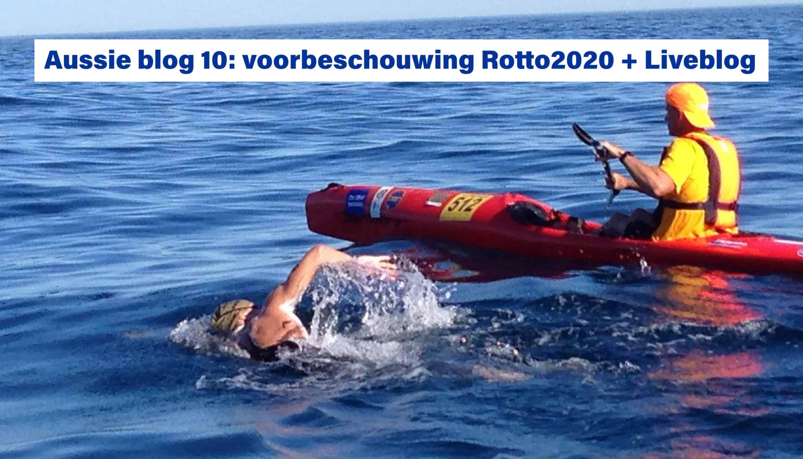 Oversteek Rotto2020 Rottnest Channel Swim Lars Bottelier - Lars heeft goud gepakt tijdens de Rottnest Channel swim - Hij is prof openwaterzwemmer die voor de Oympische Spelen van Parijs 2024 gaat